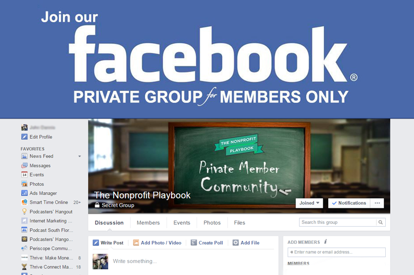 The Nonprofit Playbook Facebook Group